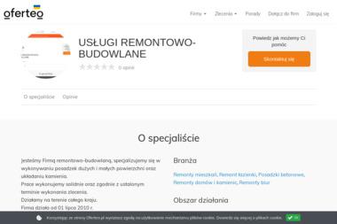 USŁUGI REMONTOWO-BUDOWLANE - Posadzki Kamienica