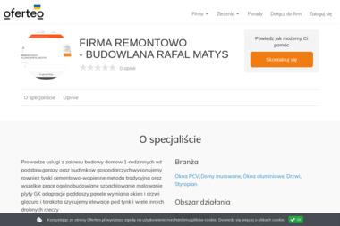 FIRMA REMONTOWO - BUDOWLANA RAFAL MATYS - Stolarka PCV Kielce