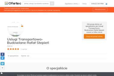 Uslugi Transportowo- Budowlane Rafał Stepień - Firma Przewozowa Zabrze