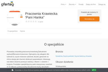 """Pracownia Krawiecka 'Pani Hanka"""" - Szwalnia Poznań"""