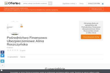 Pośrednictwo Finansowo Ubezpieczeniowe Alina Roszczyńska - Ubezpieczyciele Kraków