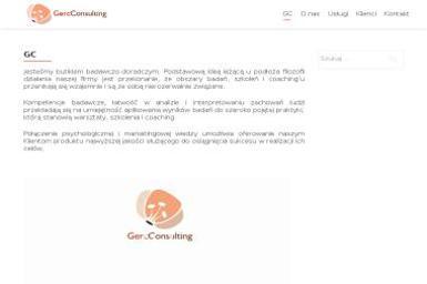 GERC CONSULTING Maciej Gerc - Firma konsultingowa Warszawa
