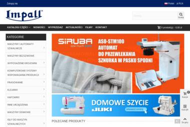 Impall - maszyny szwalnicze - Plotery nowe Łódź