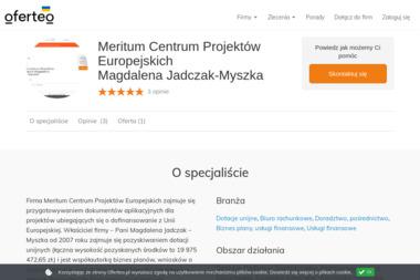 Meritum Centrum Projektów Europejskich Magdalena Jadczak-Myszka - Doradztwo, pośrednictwo Toruń