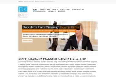 Kancelaria Radcy Prawnego Patrycja Kimla - Radca Prawny Łódź