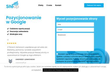 Site Up Adrian Major - Pozycjonowanie Stron Internetowych Pszczyna
