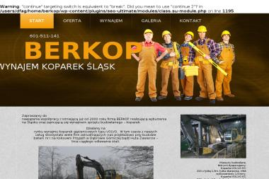 BERKOP Usługi Sprzętem Budowlanym - Studnie głębinowe Dąbrowa Górnicza