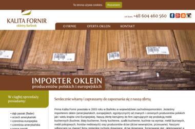 Kalita Fornir Okleiny Barlinek - Skład drewna Barlinek