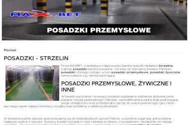 """FIRMA WIELOBRANŻOWA """"MAXBET"""" Dariusz Staszewski - Posadzki żywiczne Przeworno"""