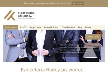 Kancelaria Prawna Aleksandra Koźlińska - Radca prawny Bydgoszcz
