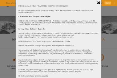 """""""CENTRUM OBSŁUGI BIZNESU"""" S.C. DANIEL KUBIAK, ROBERT MIREK - Tele biuro Bydgoszcz"""
