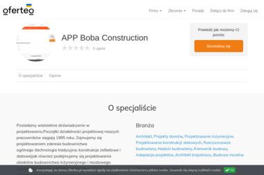 APP Boba Construction - Projekty Domów Parterowych Chrzanów