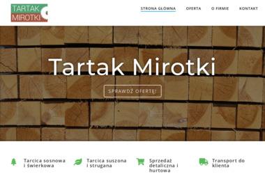 Tartak Mirotki - Skład drewna Skórcz
