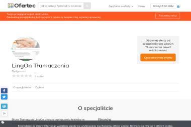 LingOn Tłumaczenia - Sklep internetowy Bydgoszcz