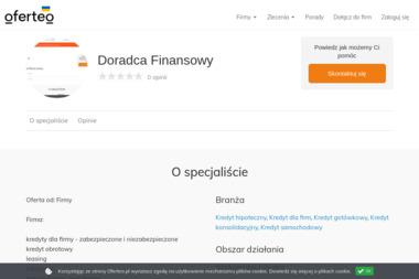 Doradca Finansowy - Kredyt gotówkowy Zielona Góra