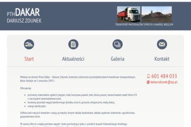 PTH DAKAR D.ZDUNEK - Transport ciężarowy krajowy Mikołów