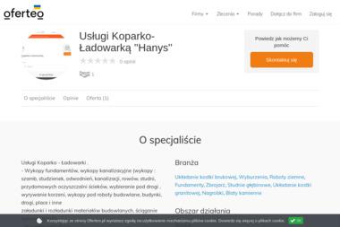 Usługi Koparko-Ładowarką ''Hanys'' - Wyburzenia Rydułtowy