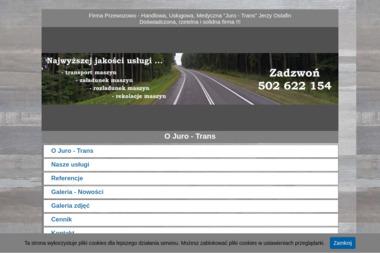 """Firma Przewozowo - Handlowa, Usługowa, Medyczna """"Juro - Trans"""" Jerzy Ostafin - Firma do Przeprowadzki Międzynarodowej Kraków"""