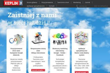 Projektowanie i pozycjonowanie stron www Keplin.pl - Pozycjonowanie stron Toruń