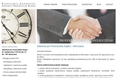 Kancelaria Adwokacka Przemysław Kopko - Ubezpieczenie AC Warszawa