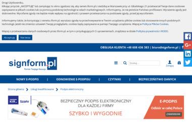 Www.signform.pl Sp. z o.o. - Doradztwo informatyczne Warszawa