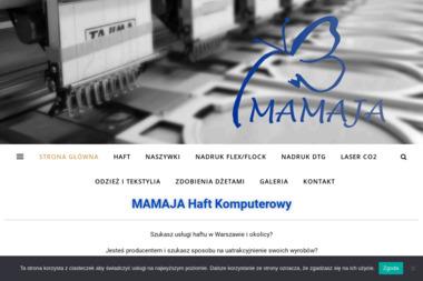MAMAJA Małgorzata Makarewicz - Haftowanie Warszawa