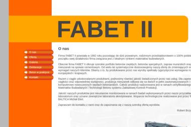 Fabet II Robert Brzyski - Wylewka Pruszków