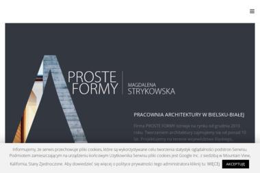 Proste Formy Pracownia Architektury Magdalena Strykowska - Projekty Domów Jednorodzinnych Bielsko-Biała