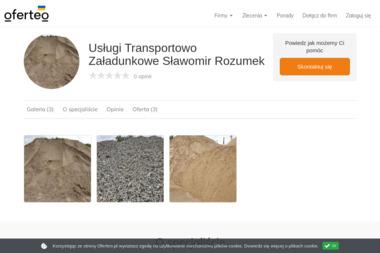 Usługi Transportowo Załadunkowe Sławomir Rozumek - Budowa dróg Płock