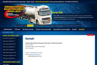 Danuta Brychczyńska Ośrodek Edukacji Ruchu Drogowego i Nauki Jazdy - Szkoła Jazdy Wrocław