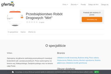 """Przedsiębiorstwo Robót Drogowych """"Mirt"""" - Roboty ziemne Skalbmierz"""