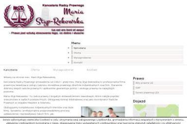 Kancelaria Radcy Prawnego Maria Styp-Rekowska - Adwokat Spraw Karnych Gdańsk