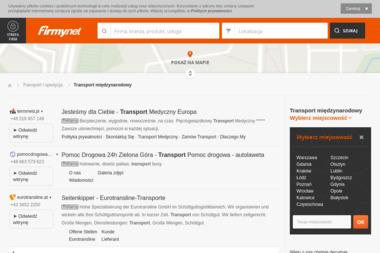 SPEED-TRANS Transport Krajowy i Zagraniczny Łukasz Górazda - Transport międzynarodowy Sulmierzyce