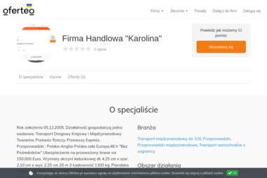 """Firma Handlowa """"Karolina"""" - Przeprowadzki międzynarodowe Stubno"""