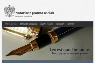 Kancelaria Notarialna Joanna Kielak Notariusz - Notariusz Warszawa