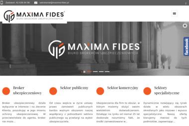 Biuro Brokerów Ubezpieczeniowych Maxima Fides Sp. z o.o. - Ubezpieczenie firmy Łódź