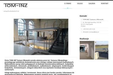 TOM-INŻ Tomasz Olkowski - Domy murowane Warszawa
