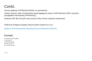 CLS Media Adam Skorupka - Reklama Online Świnoujście