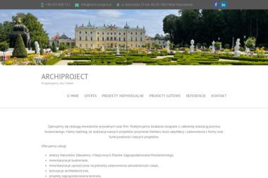 """Pracownia Projektowa """"ArchiProject"""" - Projekty domów Mińsk Mazowiecki"""