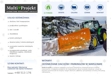 Multi-Projekt - Odśnieżanie dachów Wołomin
