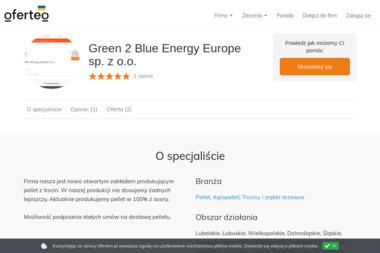 Green 2 Blue Energy Europe sp. z o.o. - Dostawca Pelletu Rzeczenica