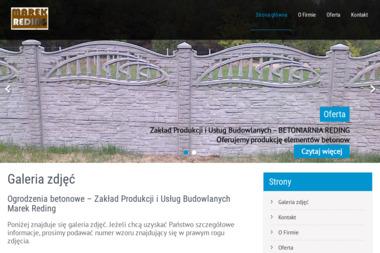Reding Ogrodzenia betonowo-ozdobne, podmurówki, słupki ogrodzeniowe - Montaż Ogrodzenia Gotelp