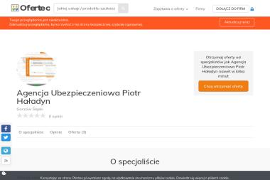 Agencja Ubezpieczeniowa Piotr Haładyn - Ubezpieczenia grupowe Gorzów Śląski