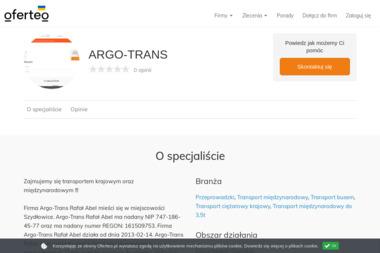 ARGO-TRANS - Transport międzynarodowy Szydłowice