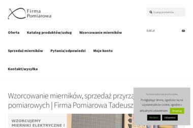 Firma Pomiarowa Tadeusz Piwkowski Laboratorium wzorcujące - Serwis urządzeń Warszawa