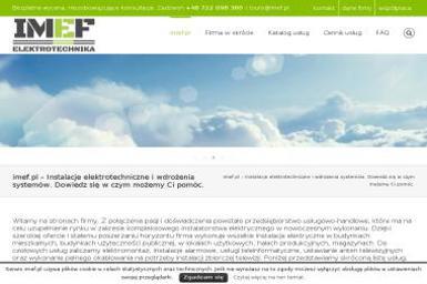 IMEF - Instalacje Elektrotechniczne i Wdrożenia Systemów Grzegorz Róg - Serwis komputerów, telefonów, internetu Biłgoraj