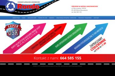 Rondo Ośrodek szkolenia kierowców, kursy doszkalające - Kurs Prawa Jazdy Mińsk Mazowiecki