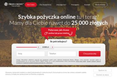 Profi Credit S.A. - Pożyczki bez BIK Warszawa