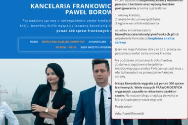 Kancelaria Adwokacka adwokat Paweł Borowski - Obsługa prawna firm Wrocław