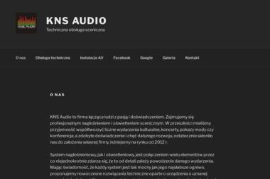KNS Audio S.C. - Nagłośnienie, oświetlenie Warszawa